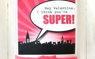 superhero bracelets {no candy!} printable Valentines