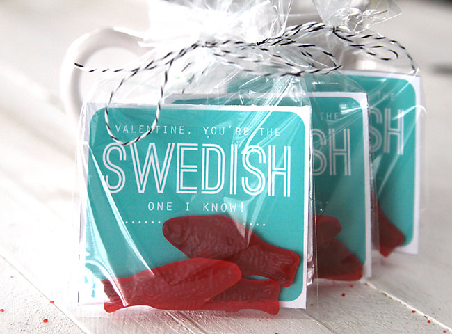 Schön Valentine Swedish Fish Easy Cheap Card Diy Day U2026