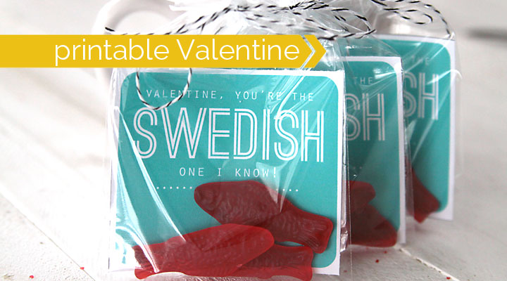 easy Swedish fish printable Valentine's Day card