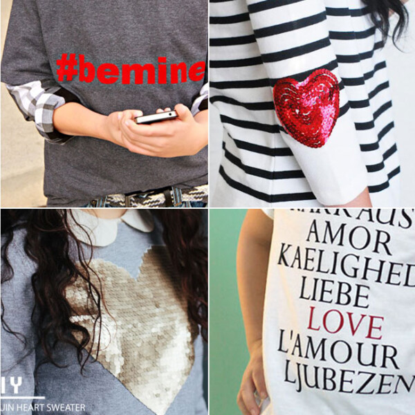 20 DIY Valentine's Day shirts - lots of cool ideas here!