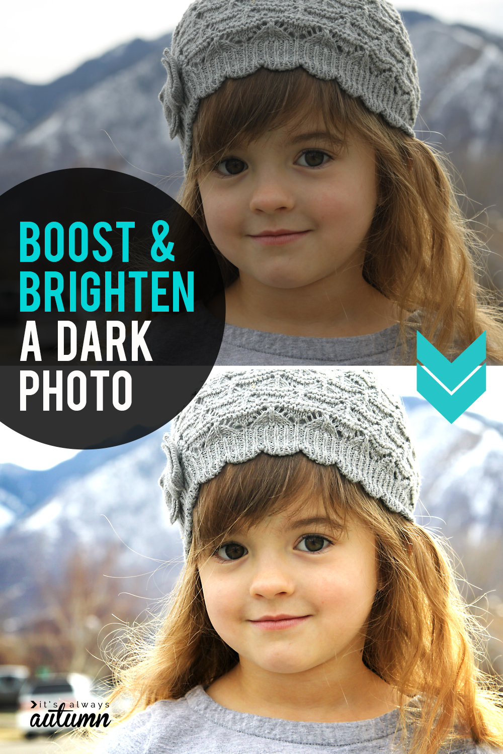 How to boost and brighten a dark photo. Easy photo editing tips.