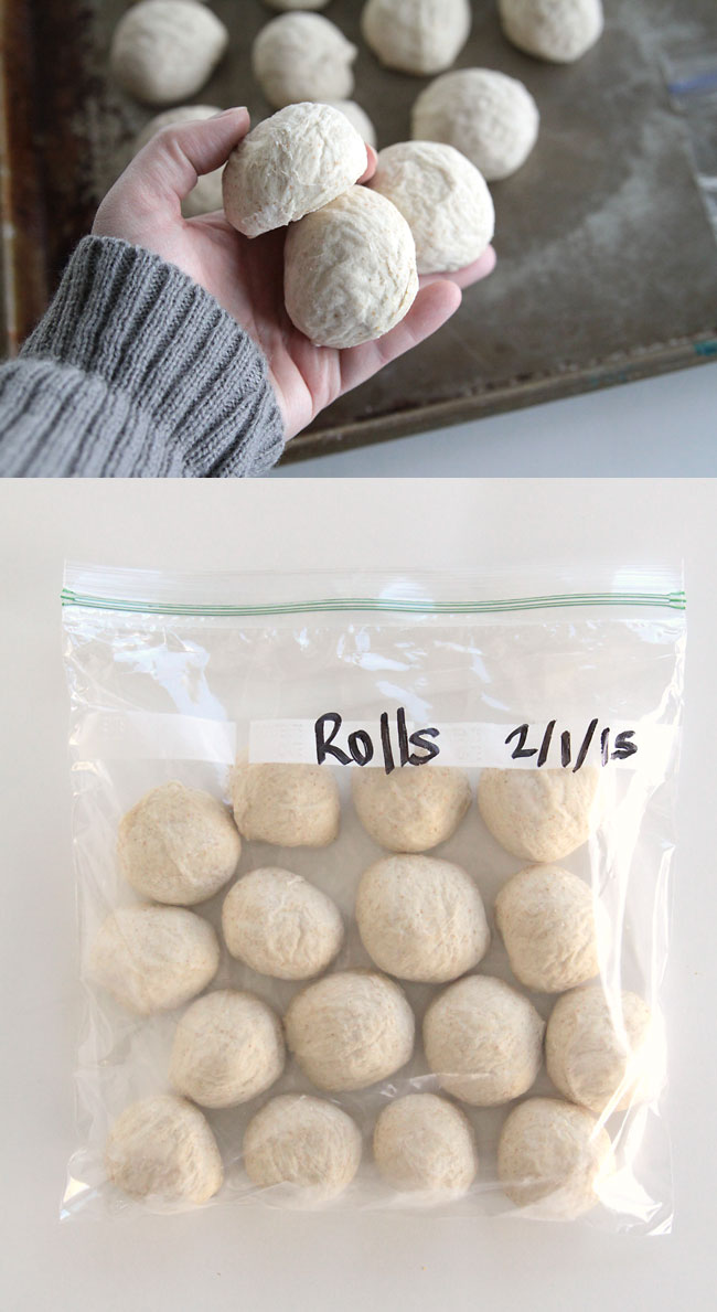 did you know you can make roll dough ahead and refrigerate or freeze it, then bake later? perfect for busy days and holiday dinners!
