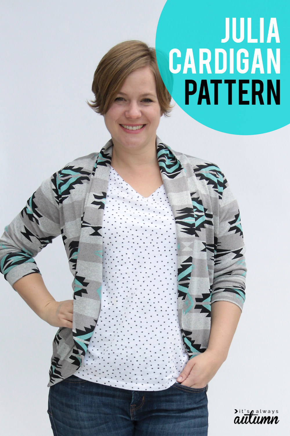 Pattern review of the Julia Cardigan pattern.