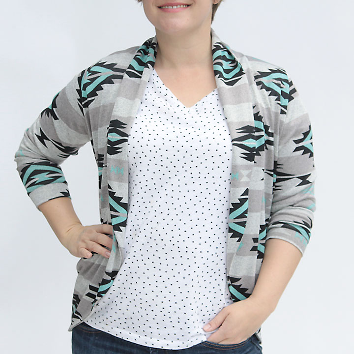 navajo tribal knit cardigan {julia cardigan sewing pattern review}