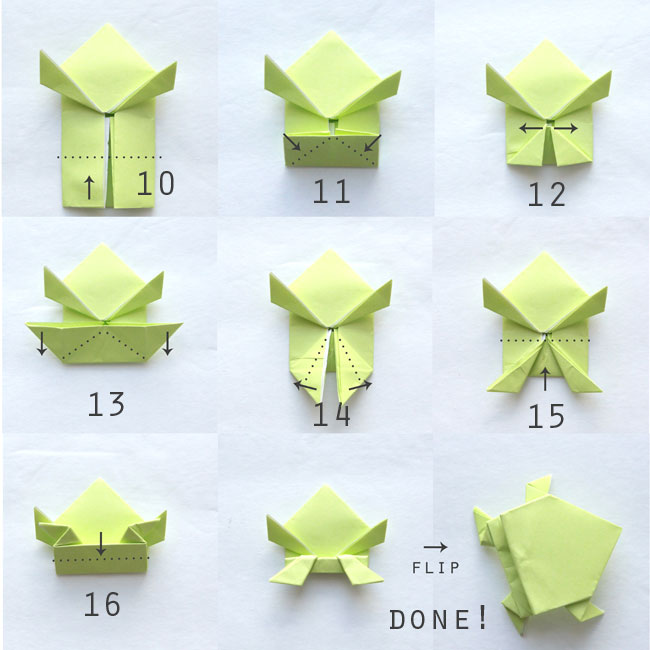 Nice Photo Instructions Show How To Fold A Jumping Origami Frog Looks Easy Enough For
