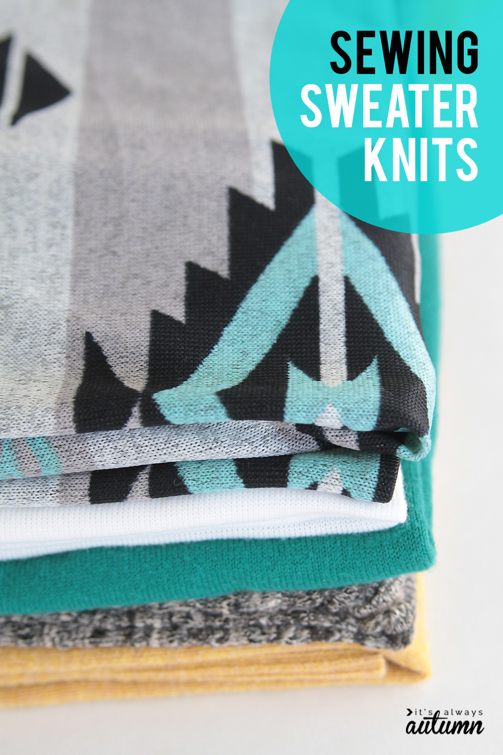 Learn how to sew with sweater knits! Click through for tips and tricks.