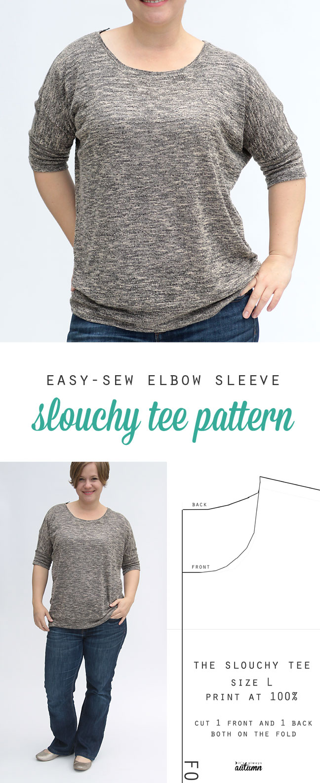The Slouchy Tee Free Women 39 S Sewing Pattern It 39 S