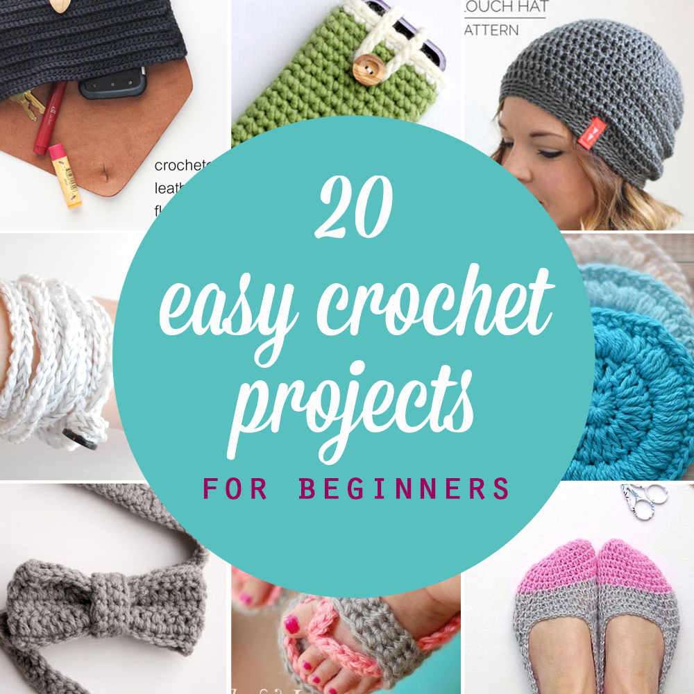 20 easy crochet projects perfect for beginners! Beginner crochet patterns.