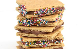 frosted graham crackers + the best chocolate frosting recipe