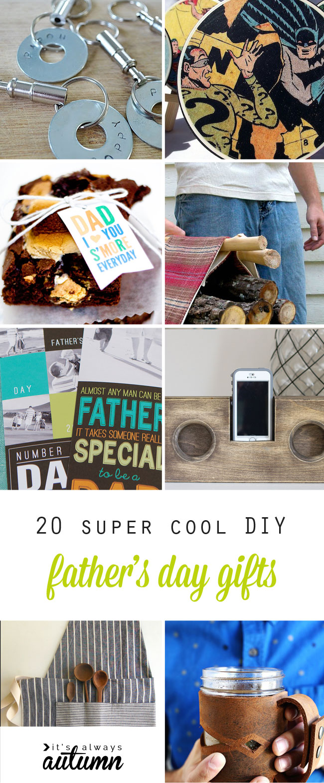 20 super cool handmade Father's Day Gifts - DIY for Dad