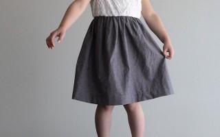 cute shirt + cute fabric = easiest dress ever