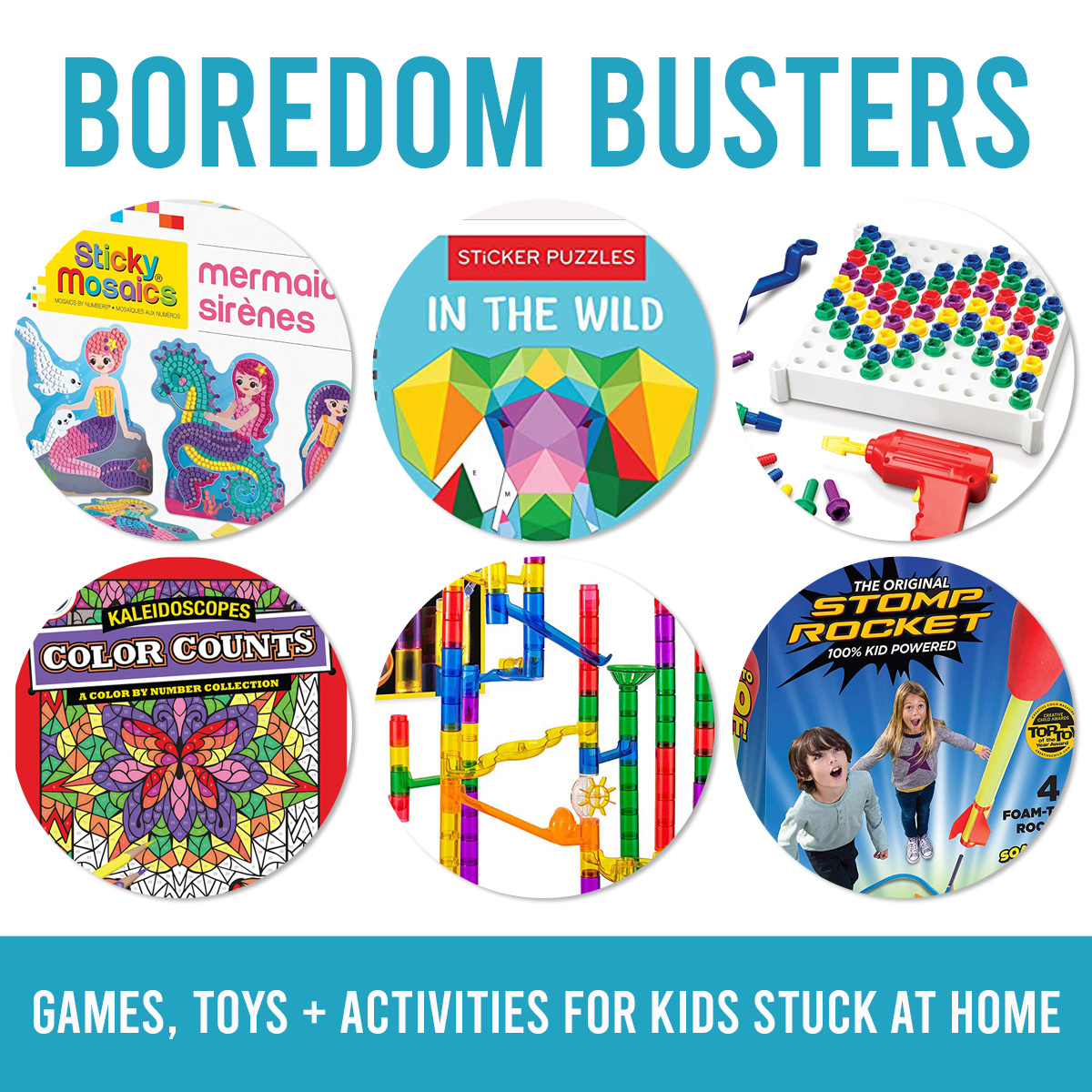 Boredom acne for children stuck at home (games, toys, books, etc.)