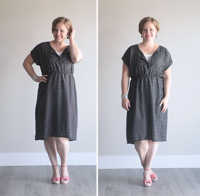 the easy tee dress in a woven {simple summer sew} - It\'s Always Autumn