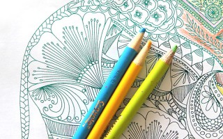 This looks fun! Add shiny foil to any printable coloring page.