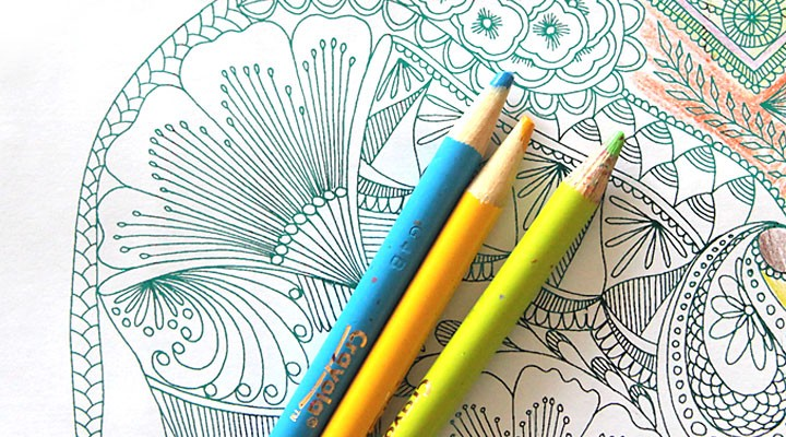 DIY shiny foil coloring pages {for kids & adults!}