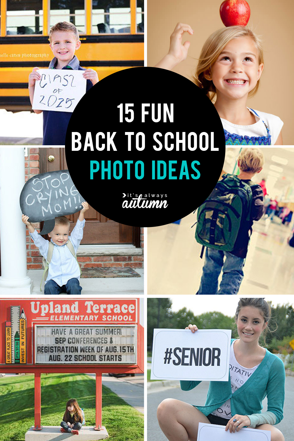 It's time to head back to school! Capture all the memories with these fun back to school photo ideas. Fun first day of school pictures.