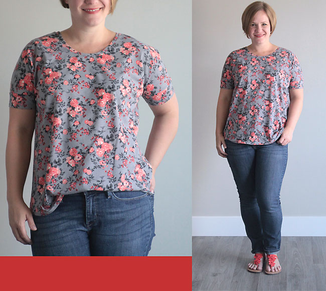 the breezy tee {free womens sewing pattern in size L} - It\'s Always ...