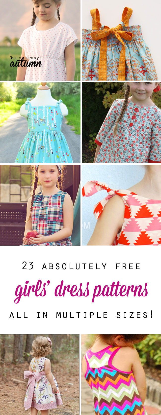 free girls dress patterns amp charity sewing its always