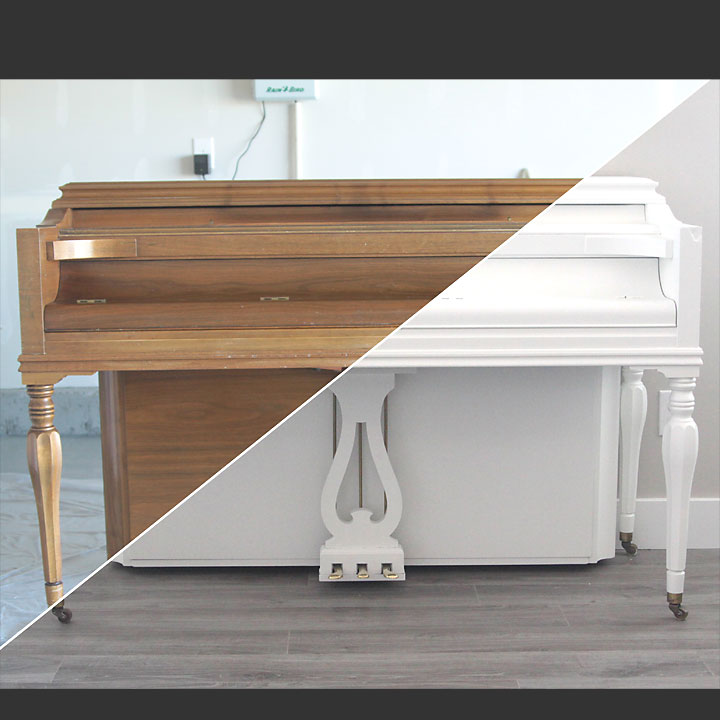 how to paint your piano the easy way
