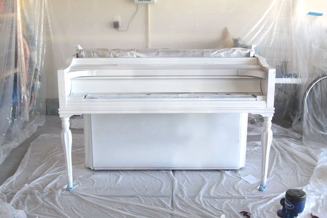 there's no need to be scared of painting your piano - this post shows the easiest way to do it with the best result (hint: it's not chalk paint!)