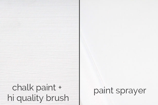 a paint sprayer is easy to use for a flawless finish in no time - and it costs less than you think! great way to avoid brush strokes.