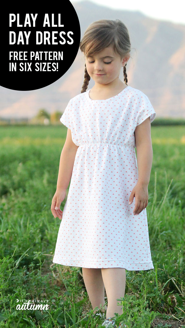 This free girl's dress pattern is super easy to sew! It comes in six sizes and is simple enough for beginners to sew.
