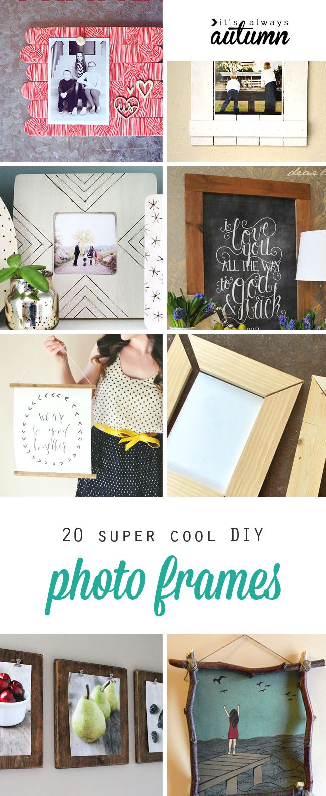 20 best diy photo frame tutorials on the web some of these are super cool