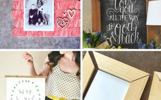 20 best DIY photo frame tutorials on the web - some of these are super cool! Less expensive than buying frames, and you can make them in any size or style you like.