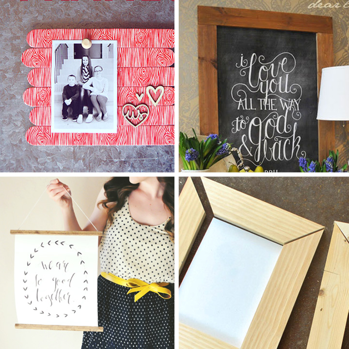 20 best DIY photo & picture frame tutorials