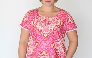 easy-to-sew blouse (a.k.a the breezy tee in a woven!)