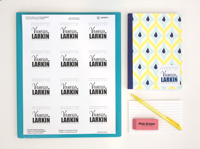 Printable Name Labels For School Supplies Amp More It S