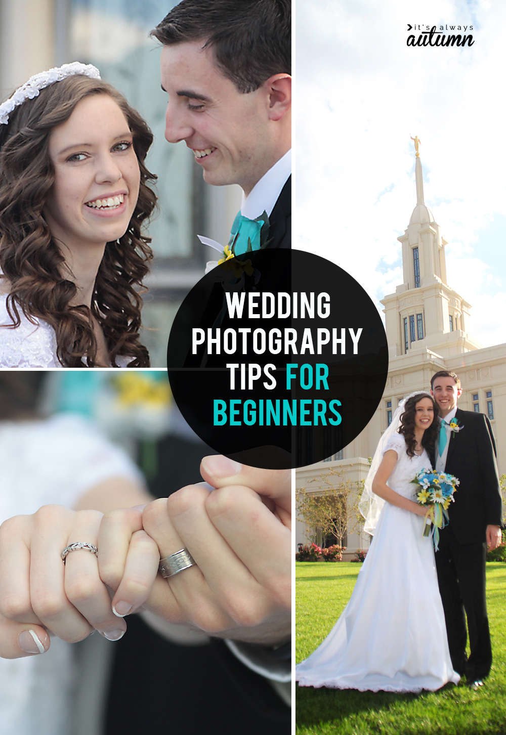 9 wedding photography tips so you can take great wedding photos even if you're not a pro!