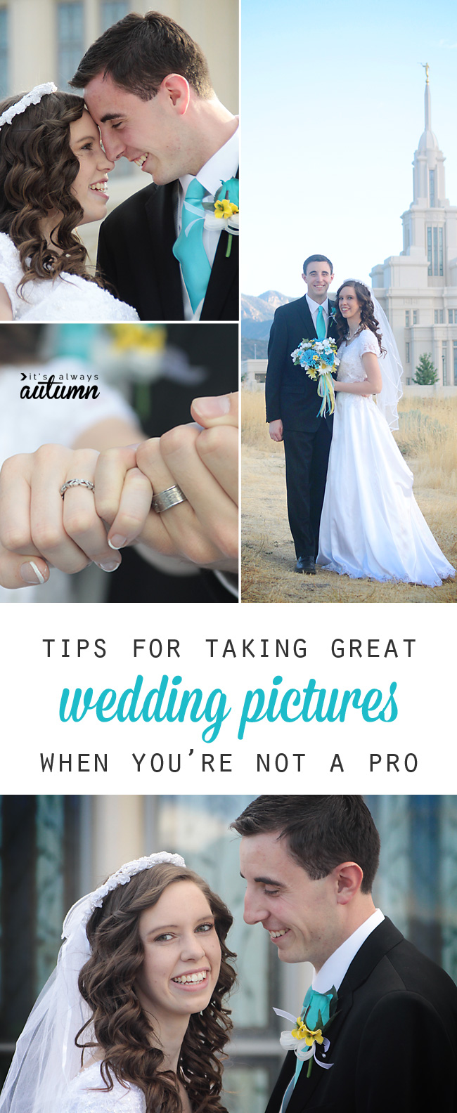 how to take great wedding photos when you're not a pro - It's Always Autumn
