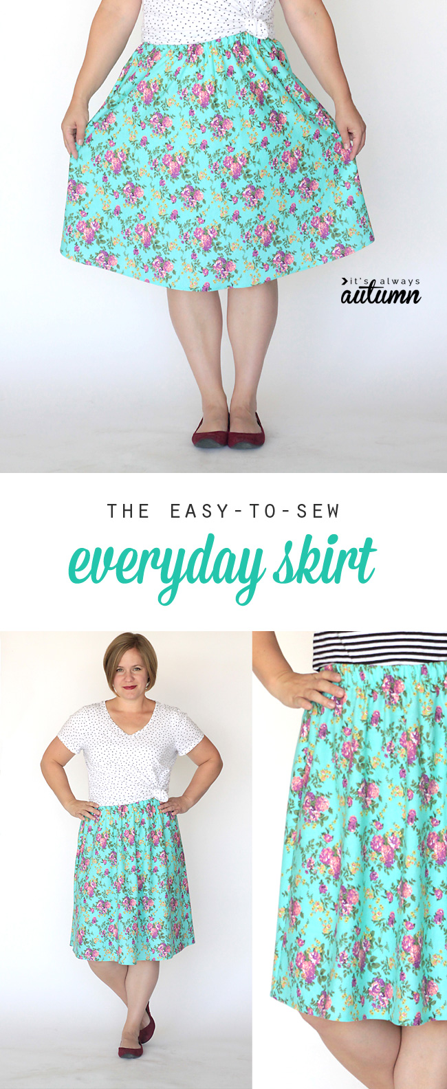 the everyday skirt simple sewing tutorial it s always autumn