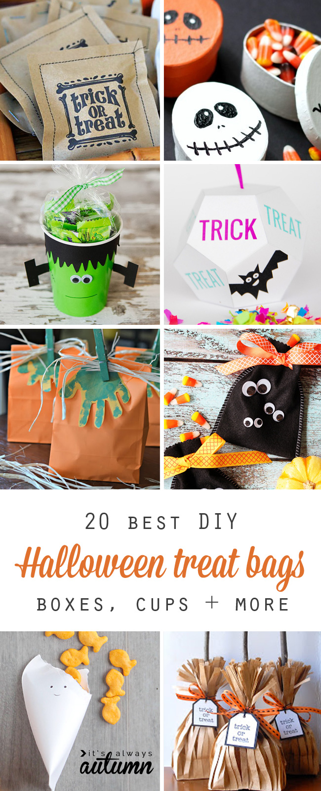 20 cute & easy diy halloween treat bags and boxes - it's always autumn