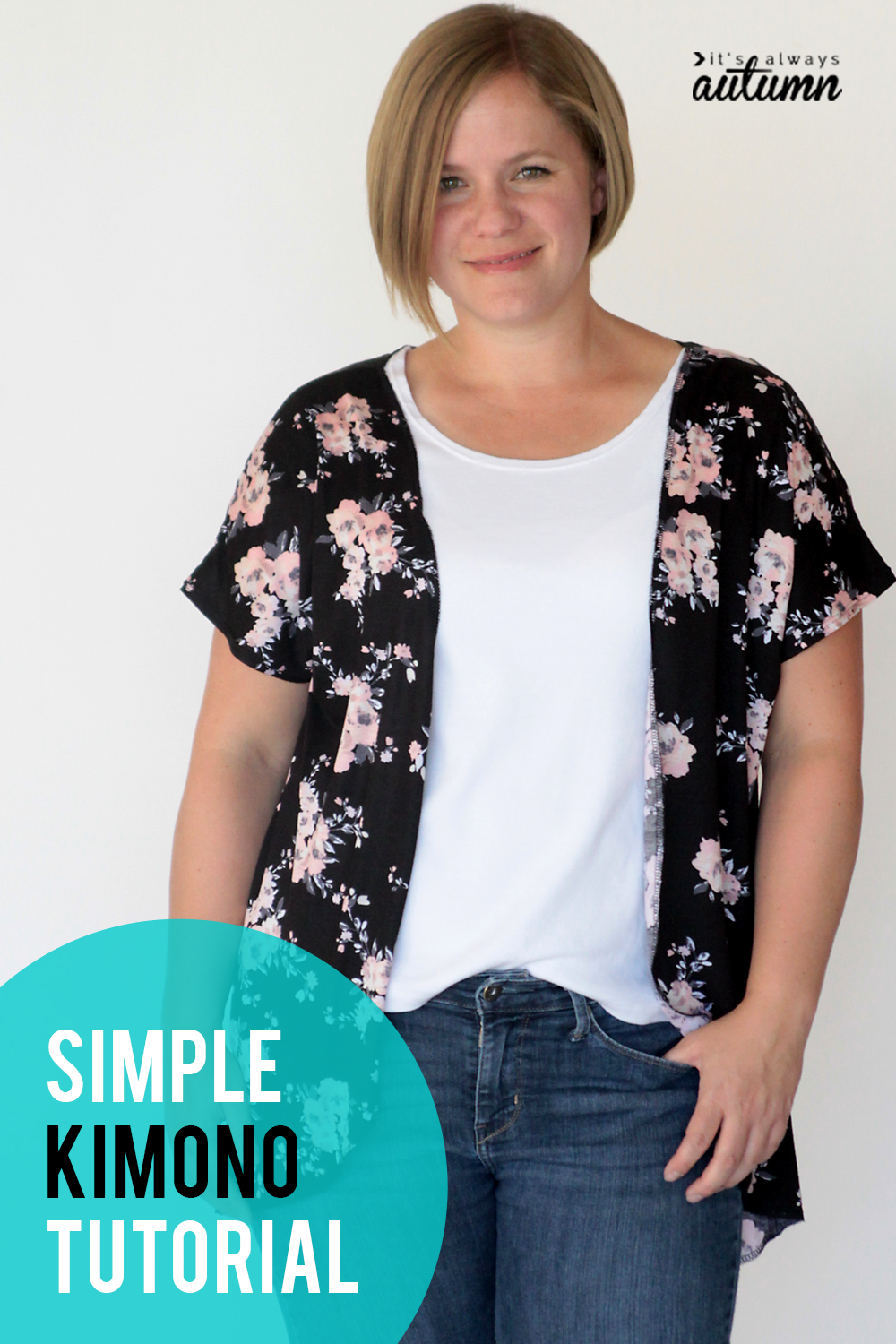 Make a kimono with just one yard of fabric!