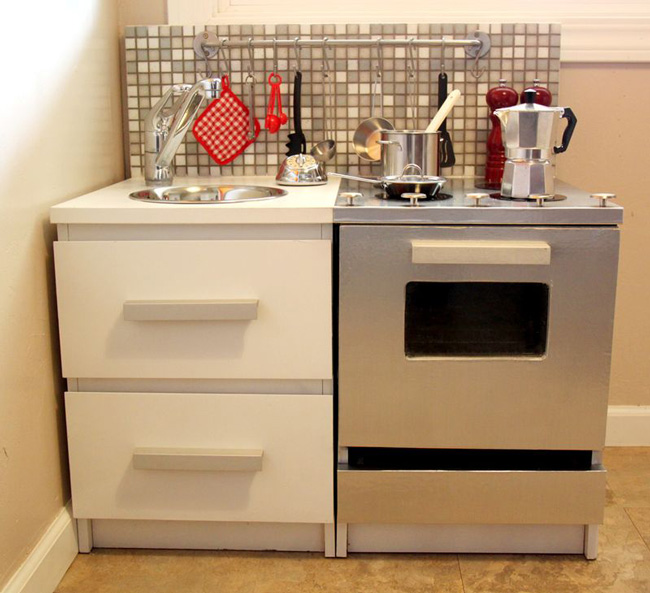 the best diy play kitchen tutorials all in one place - Diy Kids Kitchen