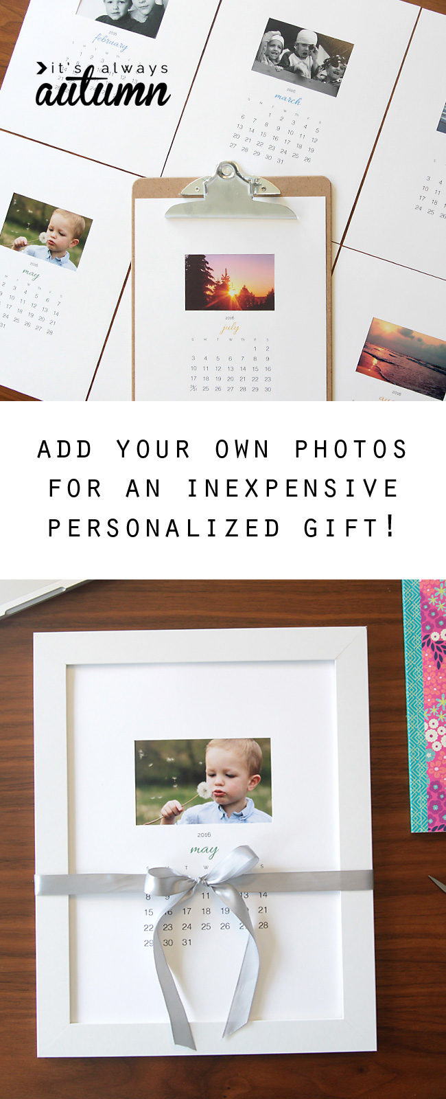 free printable 2016 photo calendar great diy gift idea it s
