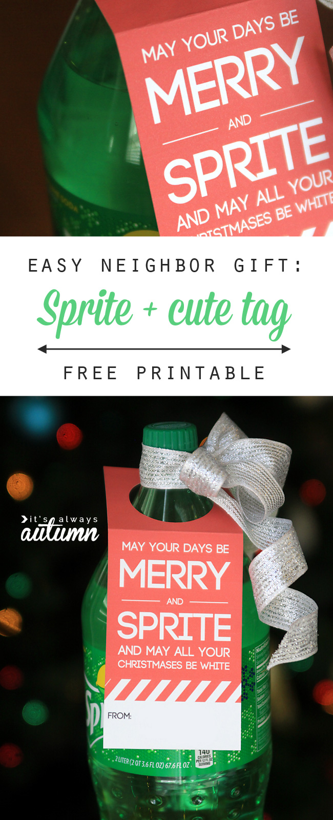 easy neighbor gift idea: Merry & Sprite - It\'s Always Autumn