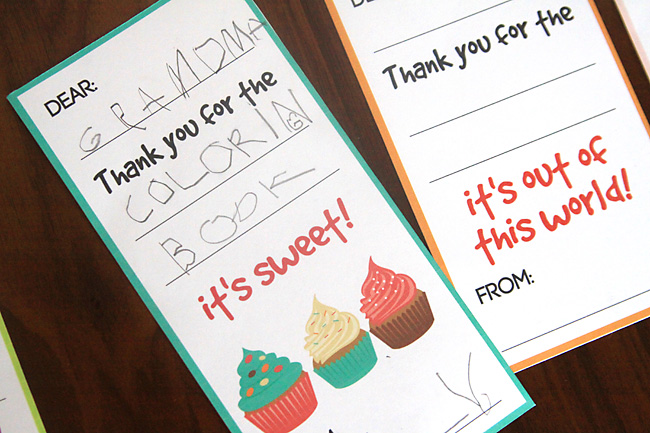 fill in the blank thank you note printables for kids - It's Always ...