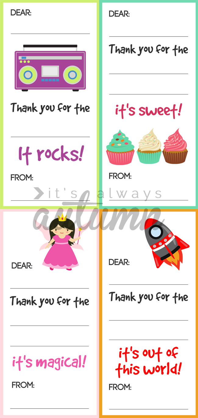 fill in the blank thank you note printables for kids it u0027s always