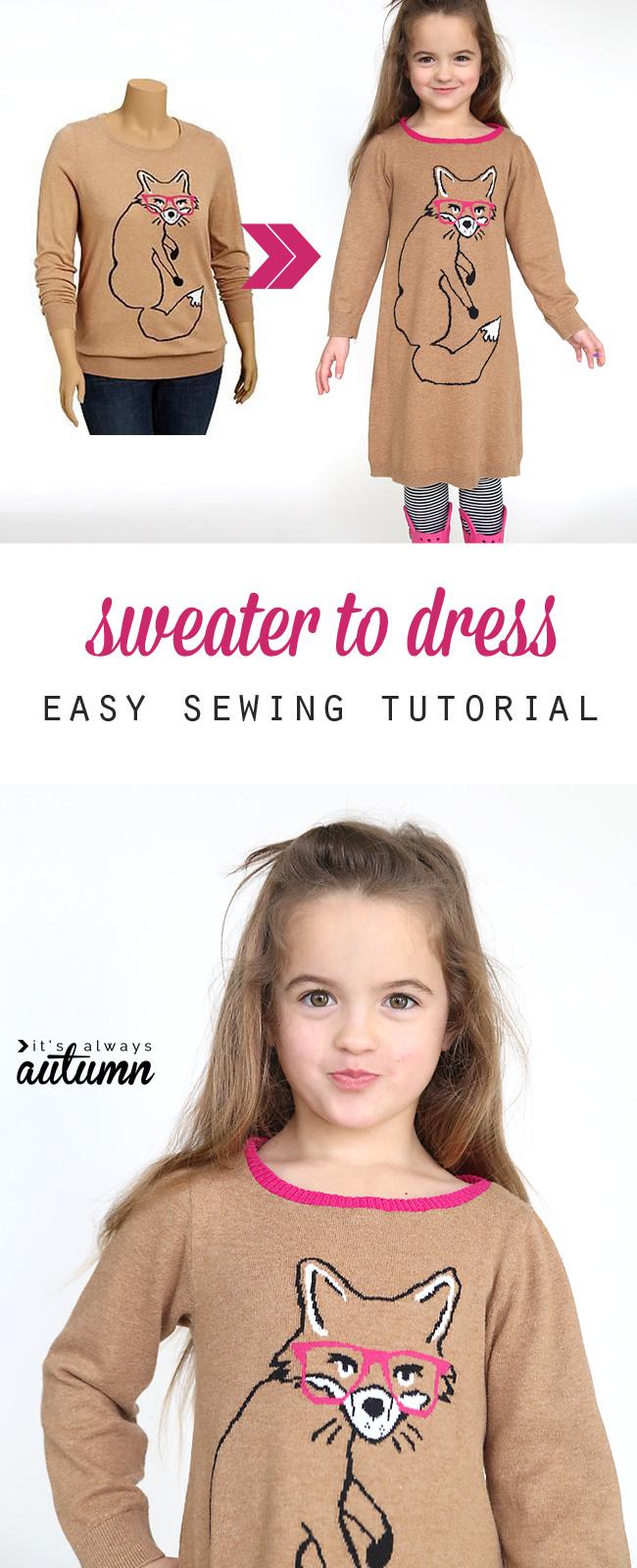 Make A Sweater Into A Dress 96