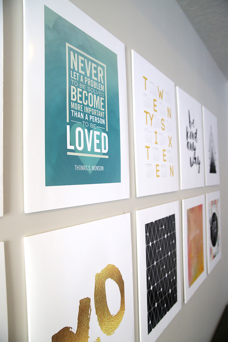 How to make scrapbook using illustration board - Save Money On Your Gallery Wall By Mounting Large Photos On Foam Core Board From The