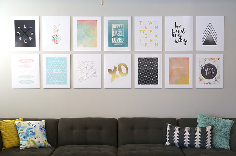 Diy photo mounting for a cheap easy gallery wall it 39 s for Diy frameless picture frames