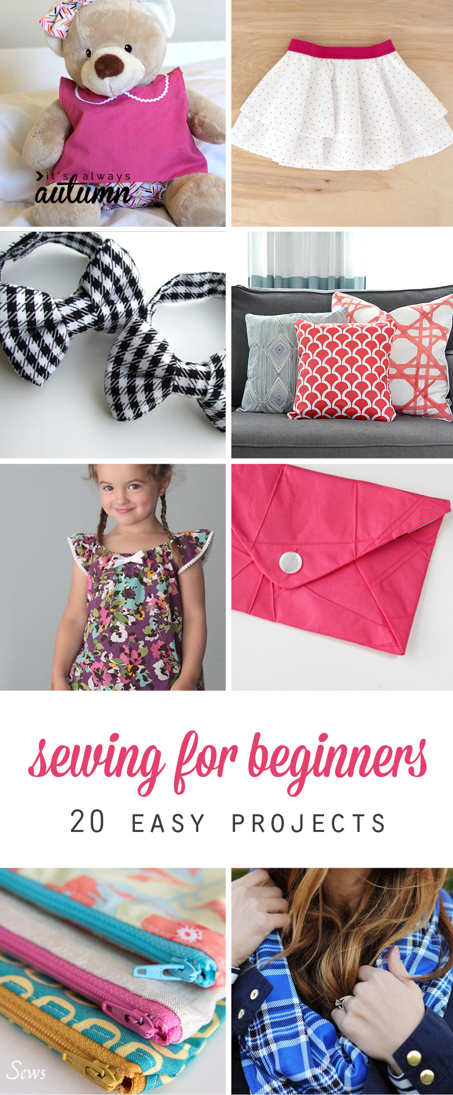 20 easy beginner sewing projects that turn out super cute its 20 easy sewing projects for beginners i think i could actually do some of these jeuxipadfo Image collections