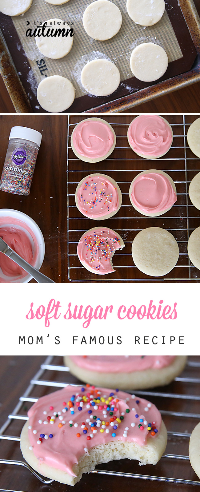 Sugar cookie recipe with pink icing
