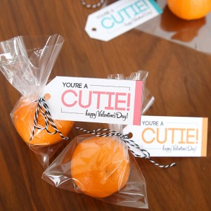 """you're a cutie!"" free printable healthy Valentine"