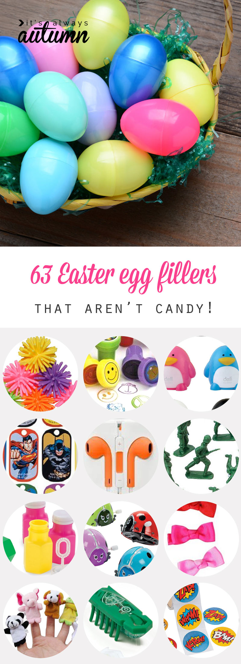 pics How to Choose NonCandy Fillings for Plastic Easter Eggs