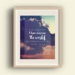 free Easter scripture verse art print