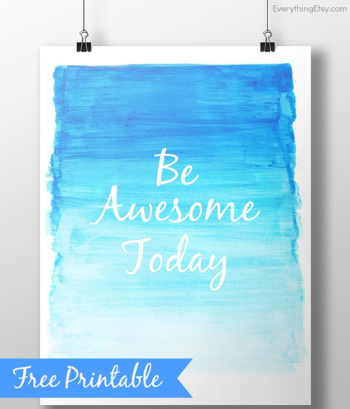20 gorgeous & modern FREE inspirational quote printables - It's